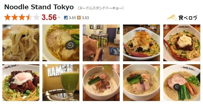 ヌードルスタンド食べログPC画像